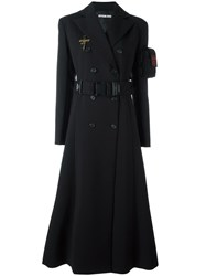 Hyein Seo Belted Long Coat Black