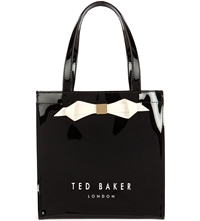 Ted Baker Raycon Small Patent Bow Shopper Black