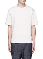 Tomorrowland Patchwork Cotton Jersey T Shirt White