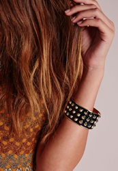 Missguided Multi Spike Cuff Black Black