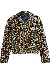 House Of Holland Leopard Print Velvet Jacket Animal Print