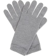 Johnstons Knitted Cashmere Gloves Coyote
