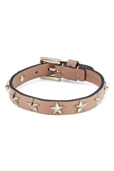 Red Valentino Star Studded Leather Bracelet Brown