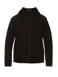 Alexander Wang Hooded Zip Front Scuba Sweatshirt Black