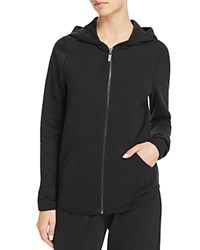 Yummie Tummie By Heather Thomson Zip Front Hoodie Black