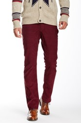 Bonobos French Corders Straight Pant 30 34' Inseam Red