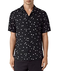 Allsaints Nauvoo Slim Fit Button Down Shirt Black