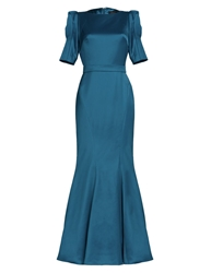 Aftershock Deordray Teal Slimline Maxi Dress