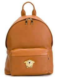 Versace 'Palazzo Medusa' Backpack Nude And Neutrals