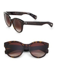 Oliver Peoples Jacey 53Mm Oversized Oval Sunglasses Spice Brown