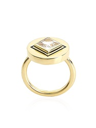 Elizabeth And James Truitt Jewelled Pinky Ring Gold