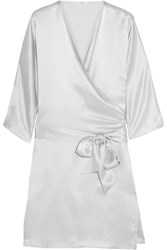 Back Label Como Silk Robe Gray