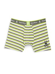 Psycho Bunny Striped Knit Boxer Briefs Macaw Green