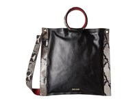 Just Cavalli Nappa And Python Printed Leather Black