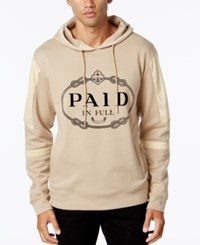 Hudson Nyc Men's Paid In Full Graphic Print Hoodie Sand