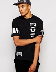 Aape By A Bathing Ape Aape T Shirt With Sleeve Print Black