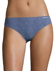Calvin Klein Invisibles Printed Thong Panty Purple