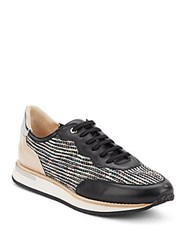 Aquatalia By Marvin K Noreen Mixed Media Sneakers Black