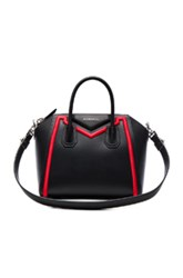 Givenchy Small Embroidered Frame Antigona In Black