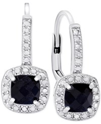 Victoria Townsend Sapphire 1 1 2 Ct. T.W. And Diamond Accent Drop Earrings In Sterling Silver