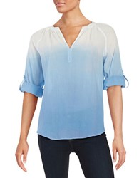 Lord And Taylor Petite Ombre Cotton Shirt English Manor