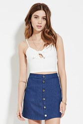 Forever 21 Keyhole Cropped Cami