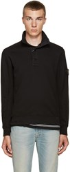 Stone Island Black Button Up Pullover