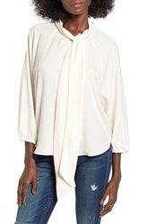 Leith Women's Tie Neck Blouse