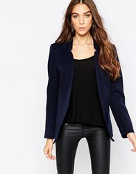 Only Amy Isoldora Woven Blazer Navy Blue