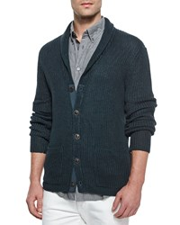 John Varvatos Star Usa Shawl Collar Knit Cardigan Dark Gray