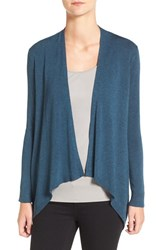 Eileen Fisher Women's Jersey Drape Front Cardigan Fir