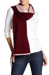 Cole Haan Double Faced Colorblock Wool Blend Muffler Red