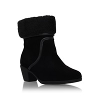Carvela Comfort Robin Boots With Ankle Cuff Black