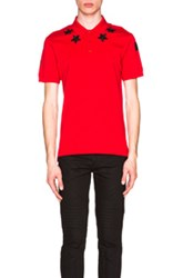 Givenchy Cuban Fit Star Collar 74 Polo In Red