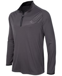 Greg Norman For Tasso Elba Embossed Quarter Zip Shirt Only At Macy's Grey