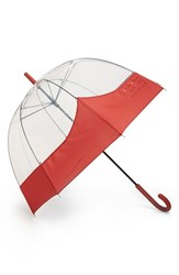 Hunter 'Moustache' Bubble Umbrella Red Military Red