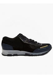 Lanvin Men's Mesh And Iridescent Leather Running Sneakers