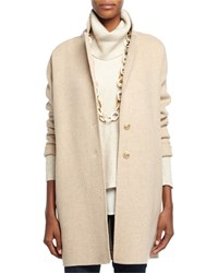 Eileen Fisher Two Button Oversized Blazer Brown