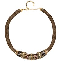Adele Marie Statement Mesh Bead Necklace Gold
