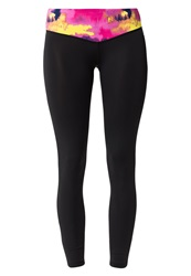 Drop Of Mindfulness Bow Ii Tights Black Multicolor