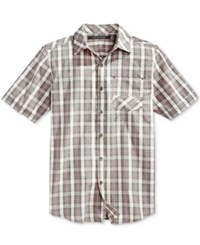 Sean John Men's Short Sleeve Check Shirt Grapeleaf