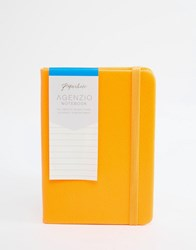 Paperchase Small Agenzio Soft Ruled Neon Orange Notebook Multi