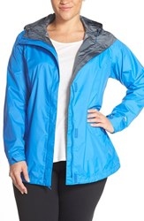 Plus Size Women's Columbia 'Arcadia' Hooded Waterproof Rain Jacket Stormy Blue