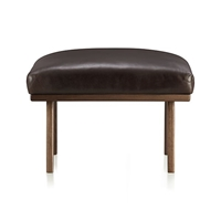 Cavett Leather Ottoman In Ottomans And Cubes Crate And Barrel