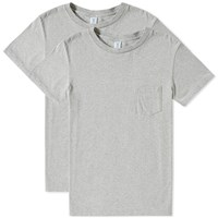 Velva Sheen 2 Pac Pocket Tee Grey