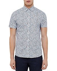 Ted Baker Thorshr Floral Regular Fit Button Down Shirt White