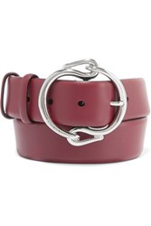 Emilio Pucci Leather Belt Burgundy