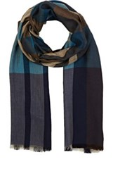 Colombo Men's Plaid Twill Scarf Blue
