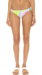 Mara Hoffman Flora White Reversible Low Rise Bottoms White Multi