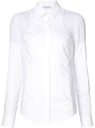Kaufman Franco Kaufmanfranco Panelled Shoulder Shirt White